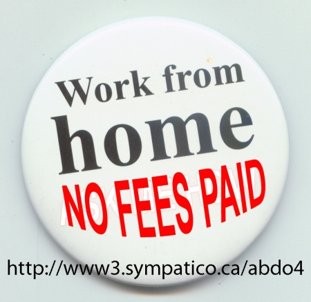 Work From Home – NO Fees to be Paid